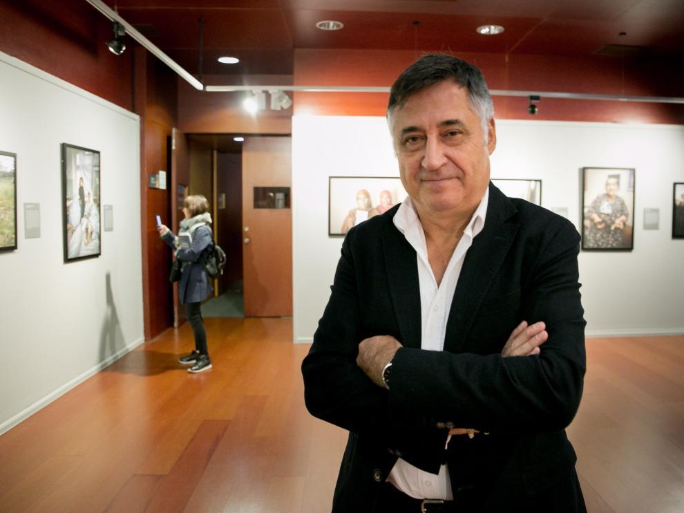 Gervasio Sánchez, en la presentación de su última exposición.