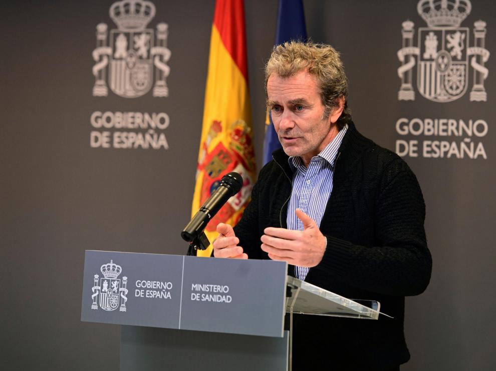 Fernando Simón en la rueda de prensa que ha ofrecido este domingo tras la reunión de la comisión de seguimiento del coronavirus