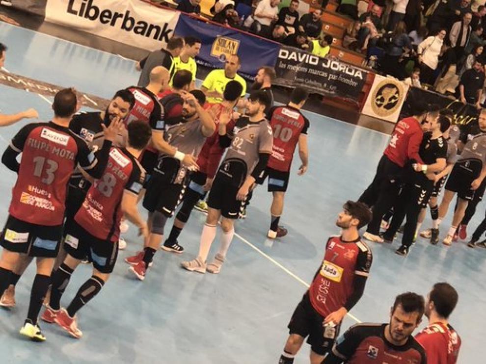Imagen del partido de vuelta entre Liberbank Cuenca y el Bada Huesca