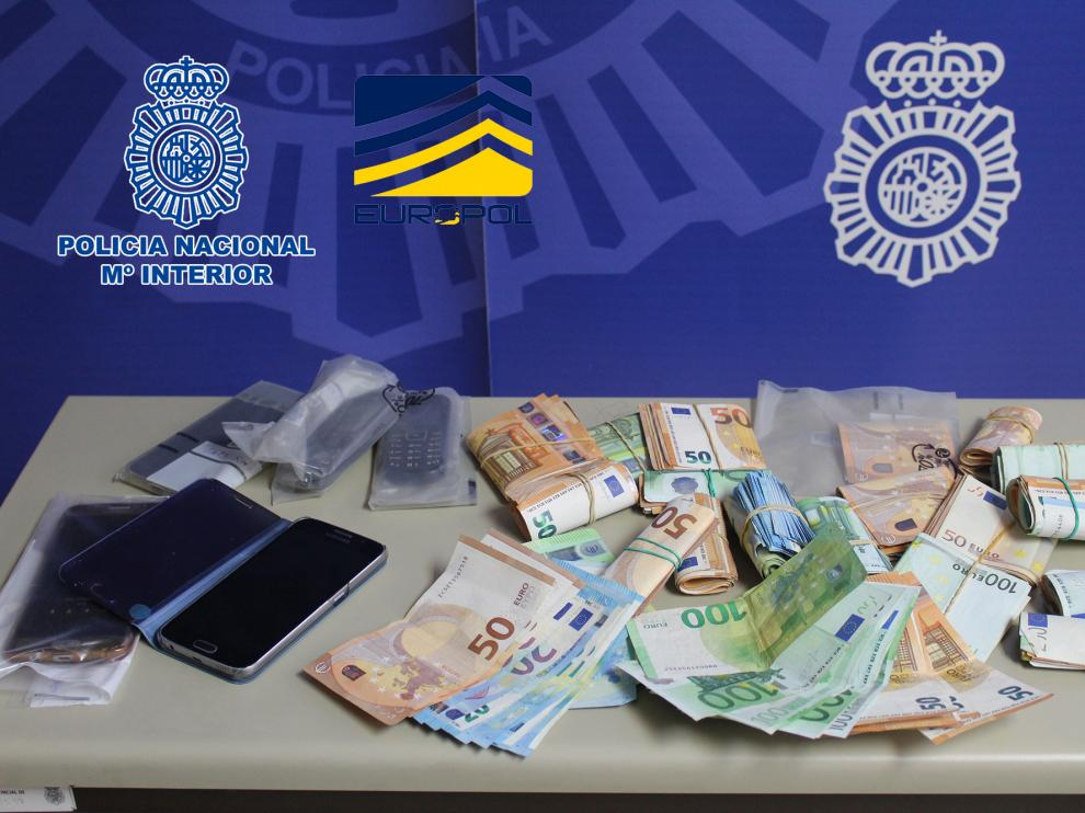 Dinero incautado por la Policía Nacional en este operativo.