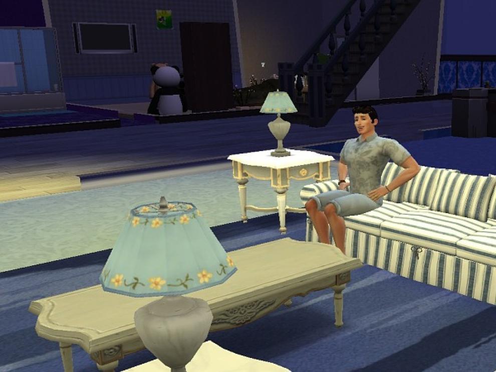 Una escena de Los Sims.