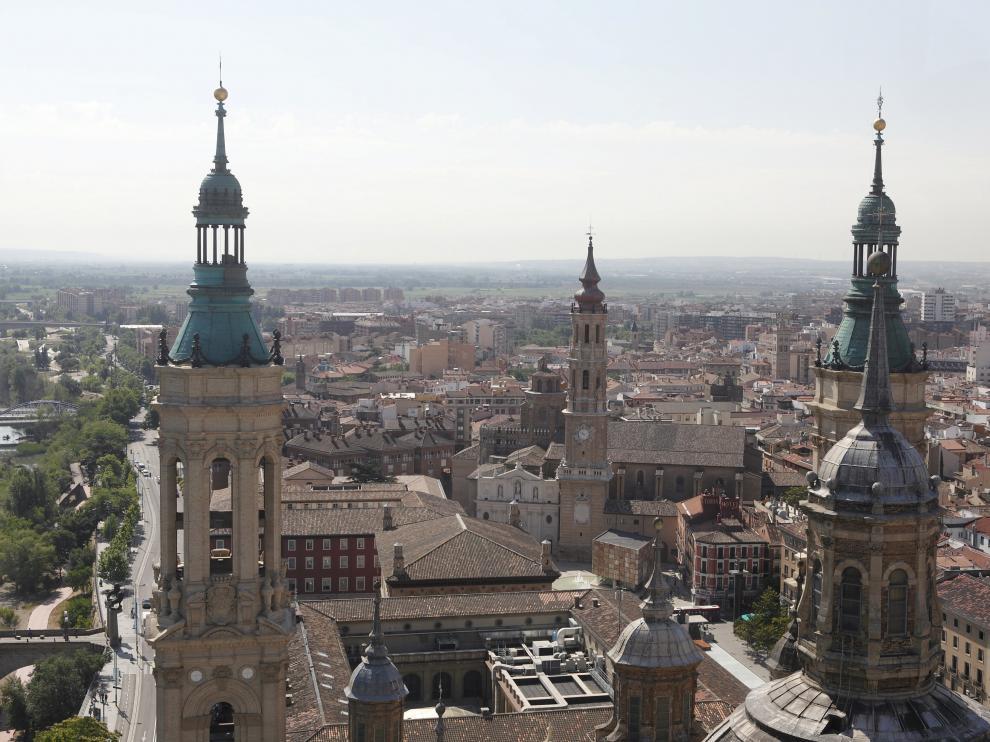 Zaragoza, desde lo alto del Pilar