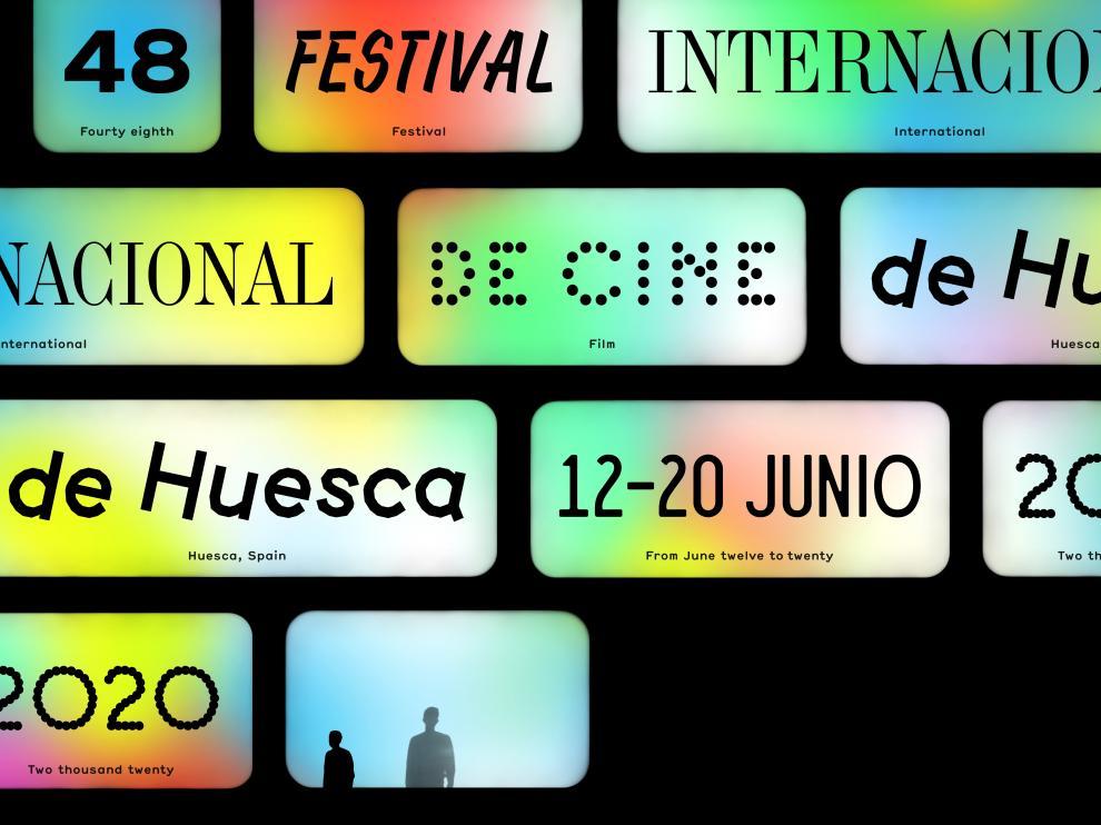 Cartel de la 48 edición del Festival Internacional de Cine de Huesca.