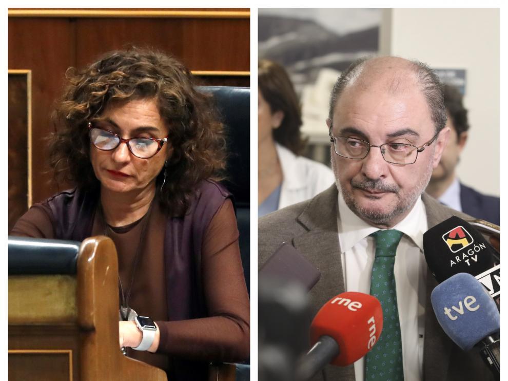 Maria Jesús Montero y Javier Lambán