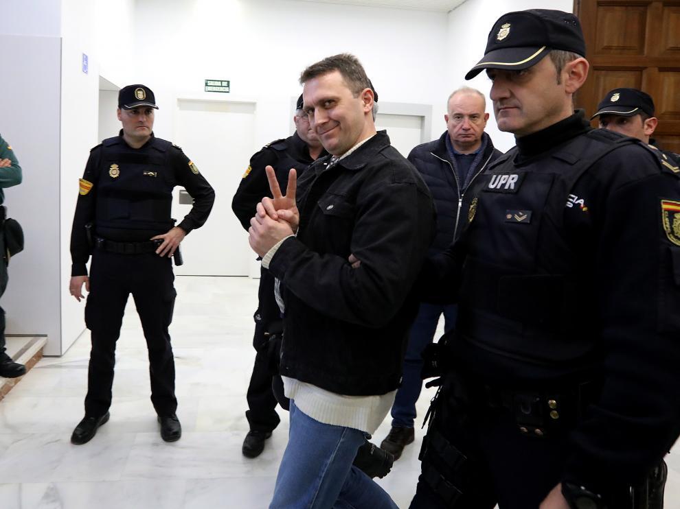 Norbert Feher, alias Igor El Ruso. Juzgados de Teruel/ 28/01/2020 fotos Javier Escriche [[[FOTOGRAFOS]]]