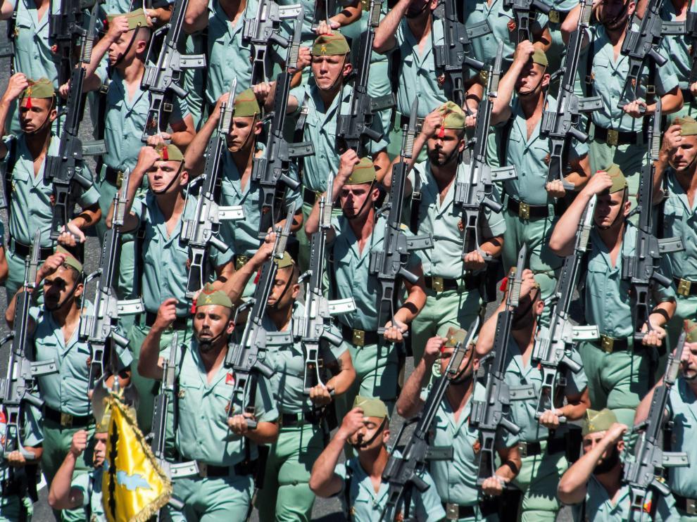 La Legión, que este año celebra el centenario de su constitución, será uno de los cuerpos participantes en el desfile.