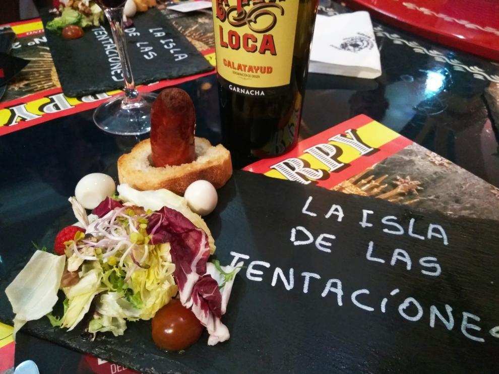 La tapa que presenta Marpy en la ruta de Tapeo Erótico y el vino La Tapa Loca.