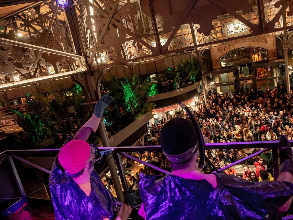 Concierto de Los Gandules en el Mercado Central de Zaragoza
