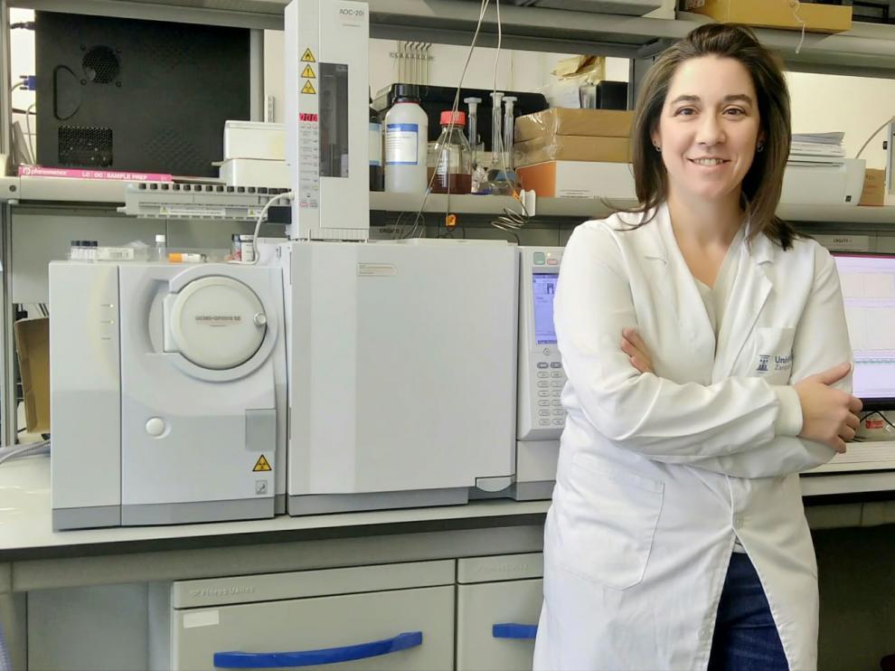 María Pilar Lobera, ingeniera química que investiga en nanomateriales.