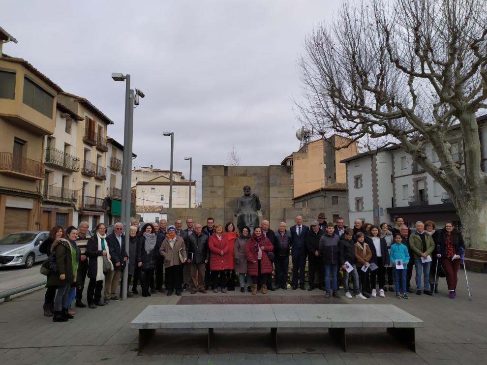 Imagen del acto de homenaje a Costa en Graus.