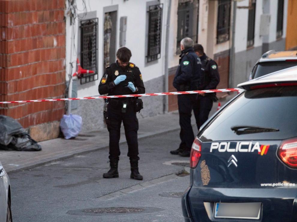 Imagen de archivo de la Policía de Granada, tras otro tiroteo el pasado enero.