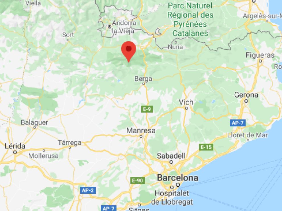 El accidente se produjo en el macizo del Pedraforca.