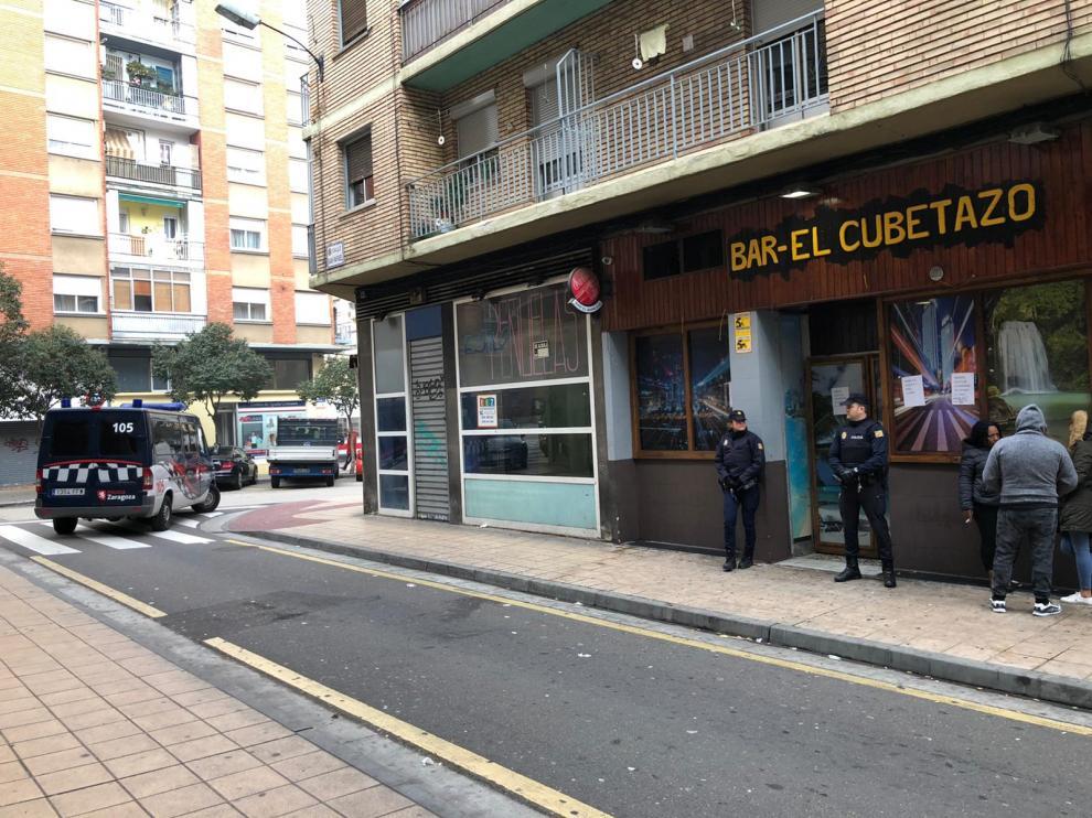 Herido un hombre en un tiroteo en un bar de Delicias