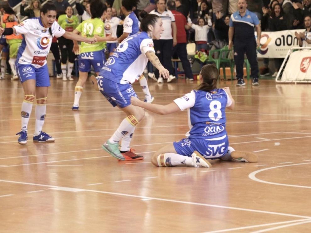 Imagen del partido entre Sala Zaragoza y Universidad de Alicante