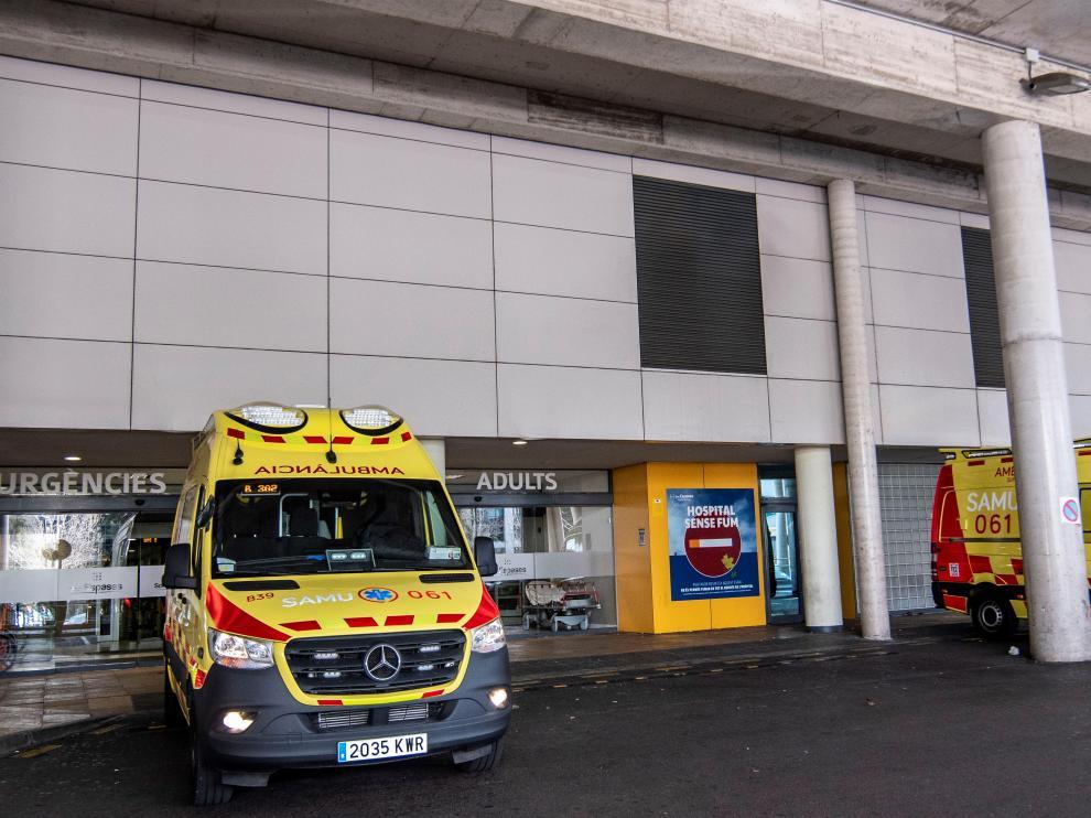 Urgencias del hospital Son Espases de Palma donde está ingresada la paciente afectada por coronavirus.