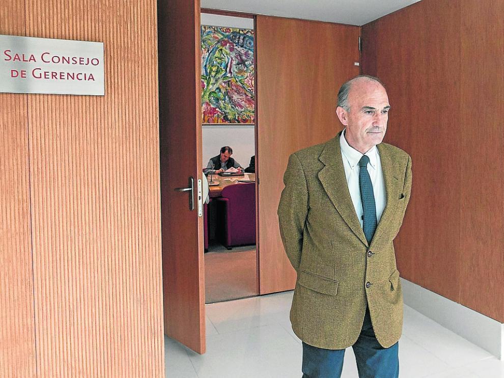 Miguel Ángel Portero, durante la comisión de investigación de Ecociudad
