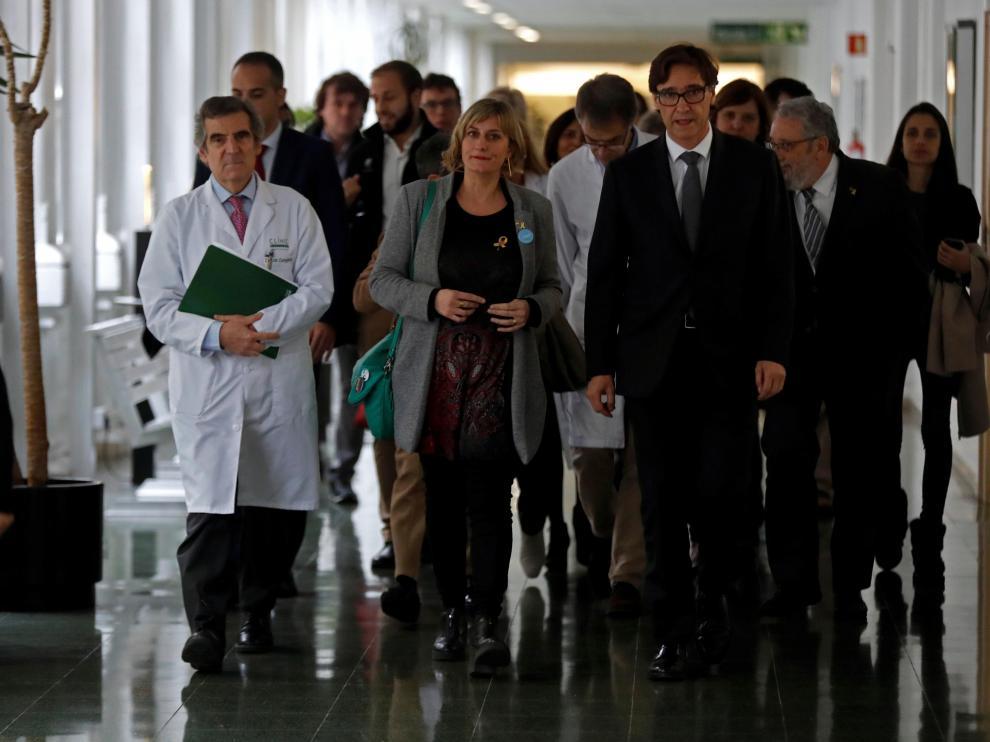 Ministro de Sanidad en Barcelona