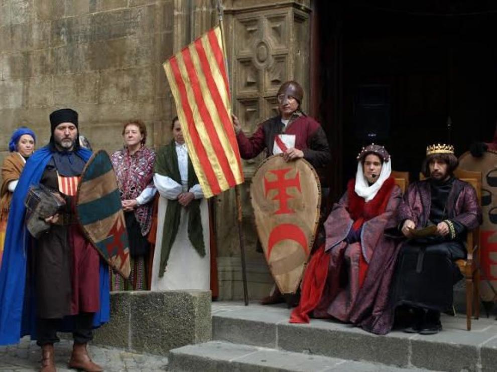 Una de las recreaciones de la fiesta del nacimiento del rey.