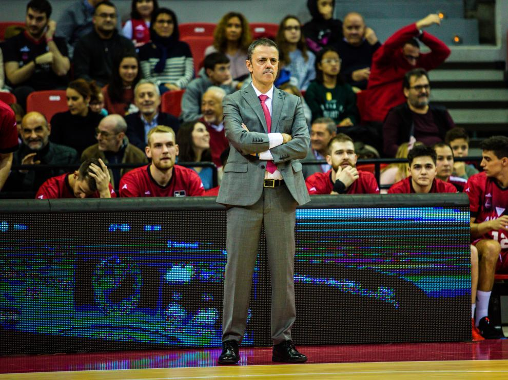 El entrenador del Casademont Zaragoza, Porfirio Fisac.