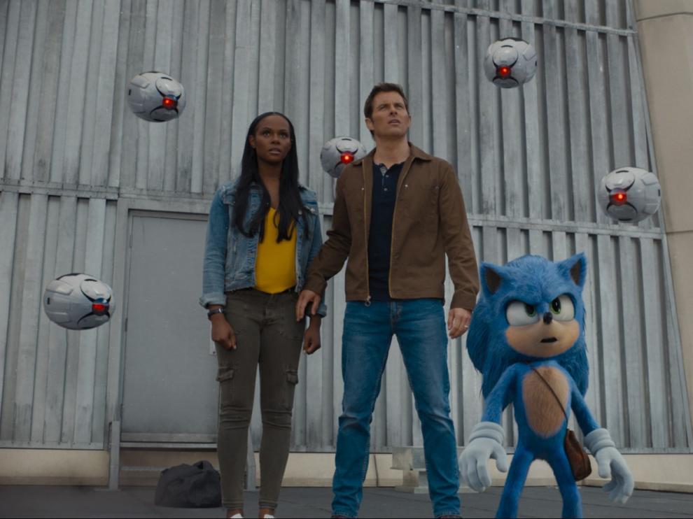 Fotograma de 'Sonic. La película! que se estrena en cartelera este 15 de febrero.