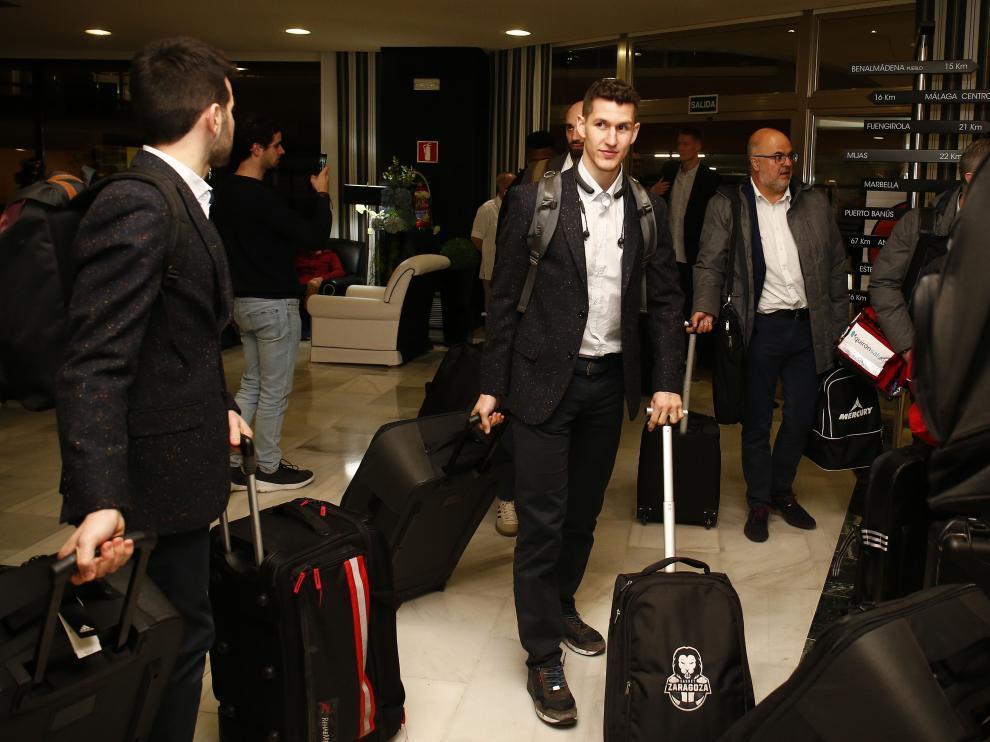 Rodrigo San Miguel, a su llegada a Málaga con la plantilla del Casademont.