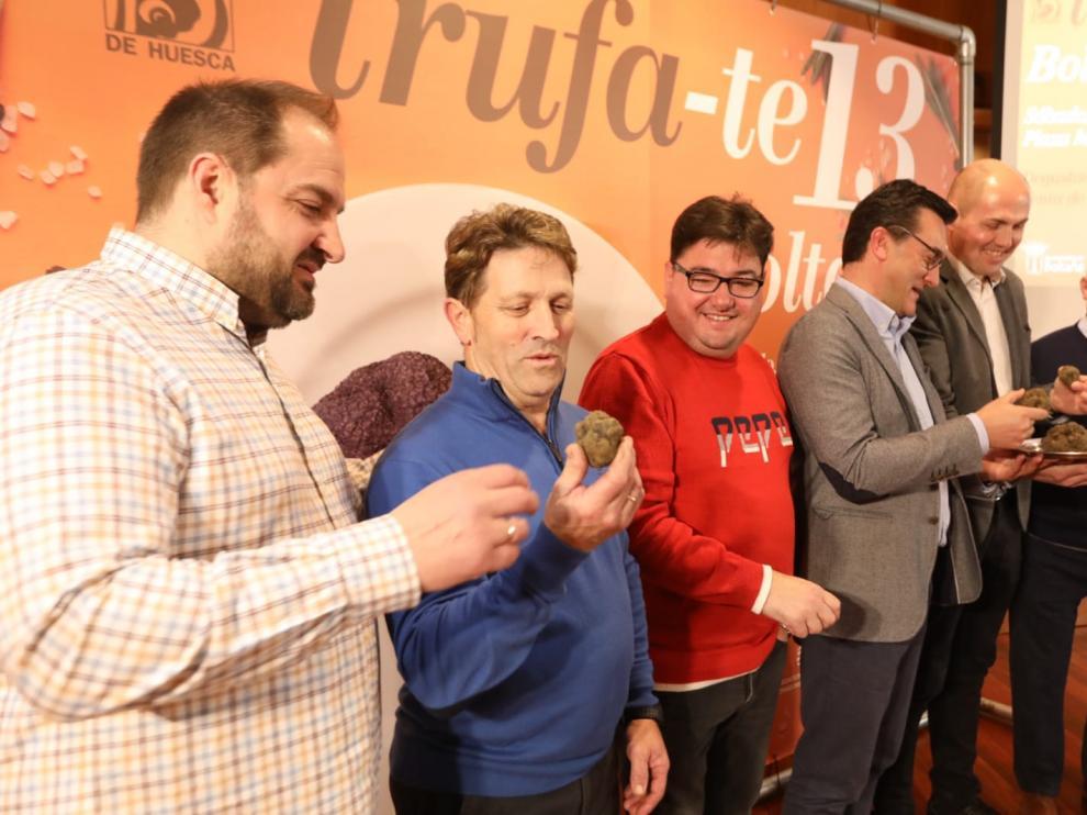 Presentación de la jornada de Trufa-te en la Diputación de Huesca.