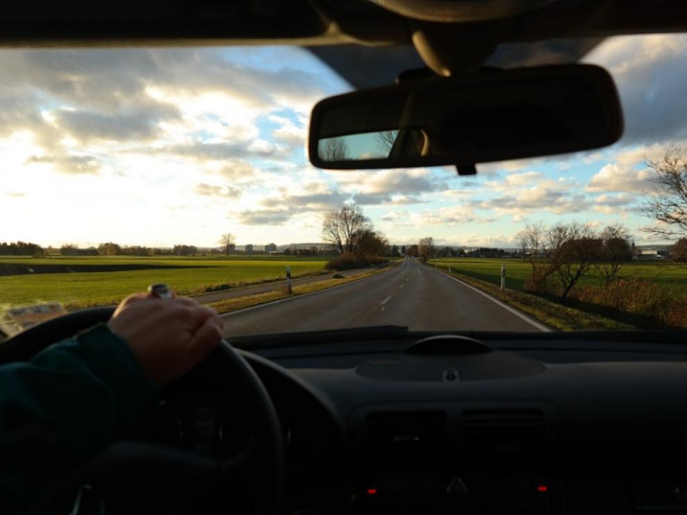 Un conductor, imagen de archivo.