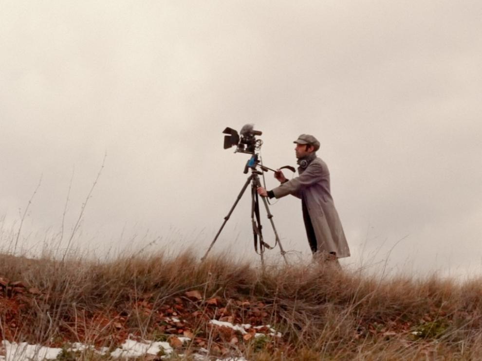 Una de las escenas de 'Soñando un lugar' que muestra el rodaje de la película