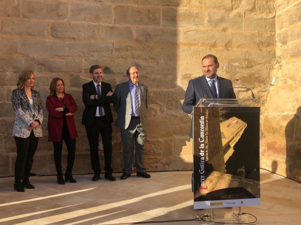 El ministro Ábalos en Alcañiz en una de las fotos que él mismo ha publicado en Twitter