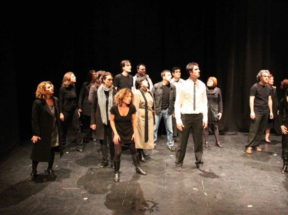 Una de las representaciones de los alumnos del Teatro de la Estación