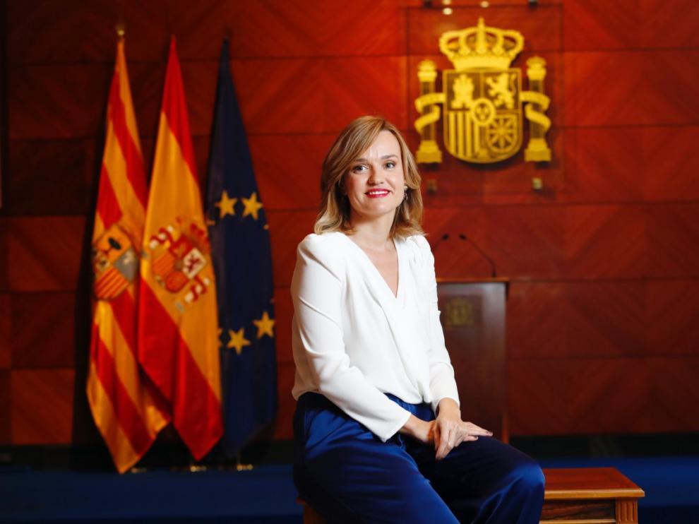 Pilar Alegría, nueva delegada del Gobierno en Aragón.