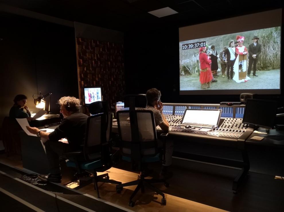 Domingo Moreno, trabajando en el documental en Toulouse.