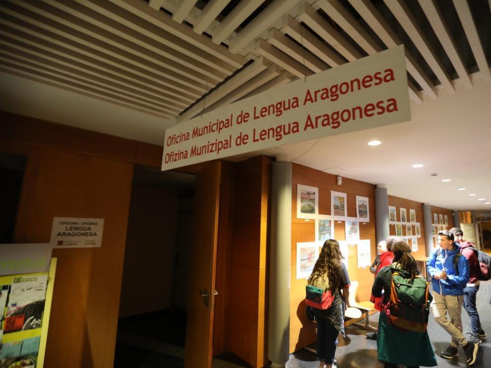 La Oficina de Lengua Aragonesa está en el CC Manuel Benito Moliner.