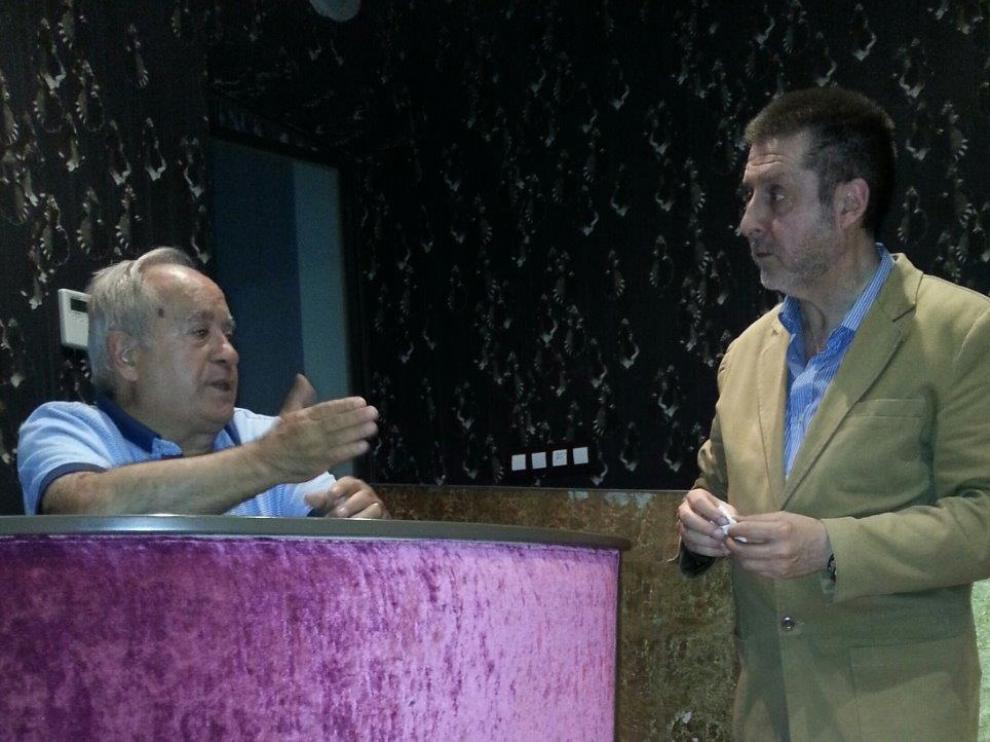 Marianico el Corto junto a Carlos Bogdanich