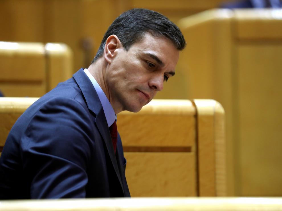 Sánchez responde a la oposición en su primera sesión de control del Senado