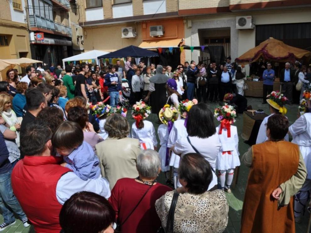 Uno de los alicientes de la festividad de San Jorge es el mercado medieval.