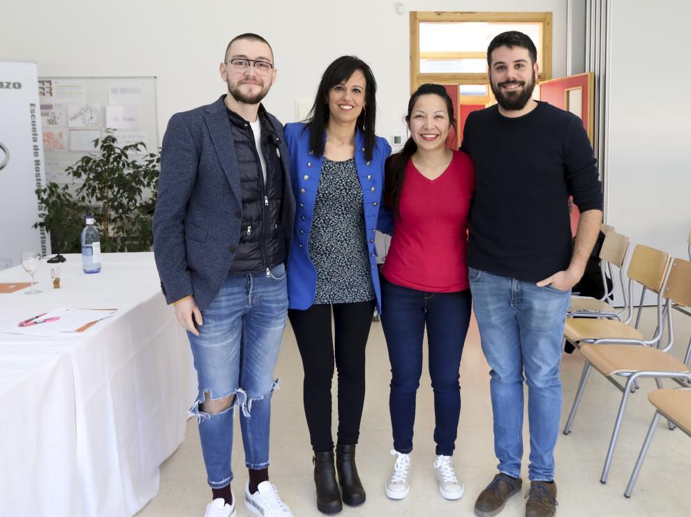 Diego Millán, Montse Gironella, Harumi Garduño y Luis Barreu.