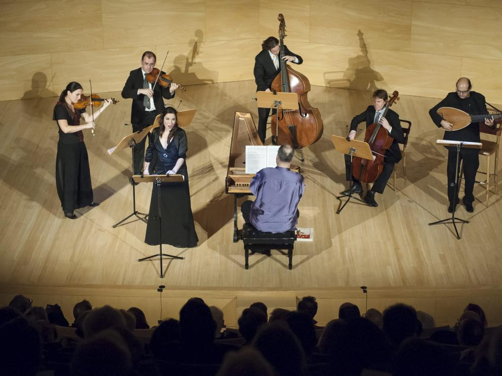 Al Ayre Español, durante un concierto en el Auditorio de Zaragoza