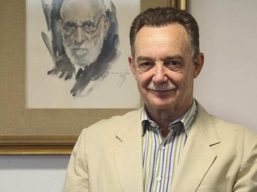 borruel, presidente del colegio de medicos de huesca / foto Javier Blasco/ 17-6-13 [[[HA ARCHIVO]]]