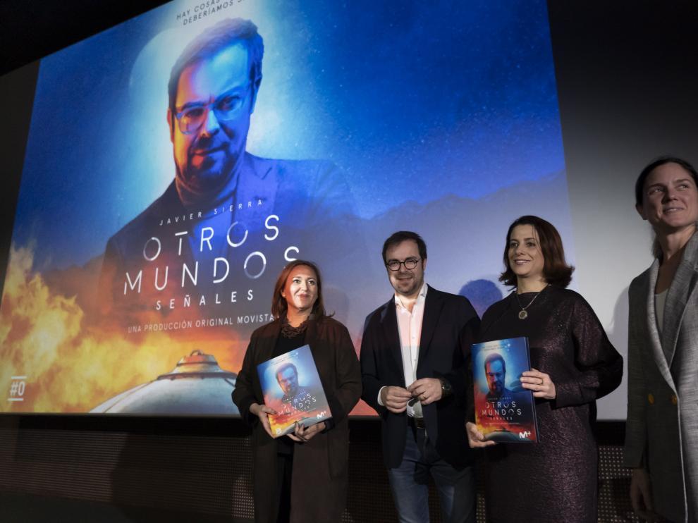 Presentacion en Teruel de la segunda temporada de la serie Otros Mundos de Javier Sierra para la plataforma Movistar. Foto Antonio Garcia/Bykofoto. 26/02/20 [[[FOTOGRAFOS]]]