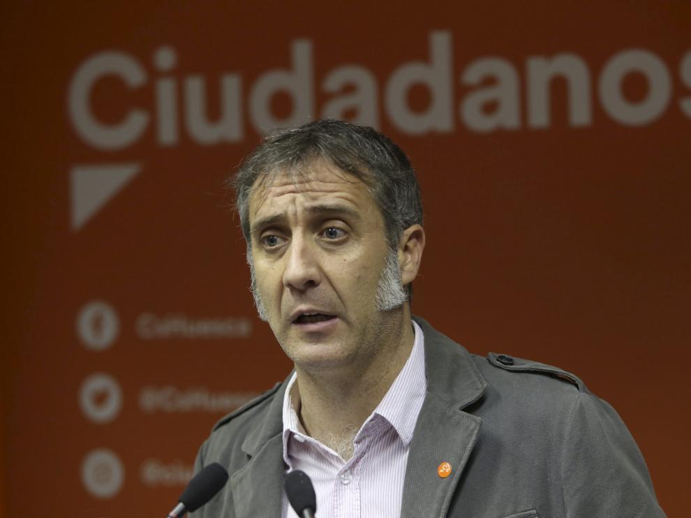 Ramiro Dominguez, de Ciudadanos en Huesca /Foto Rafael Gobantes / 16-2-18 [[[FOTOGRAFOS]]] [[[HA ARCHIVO]]]