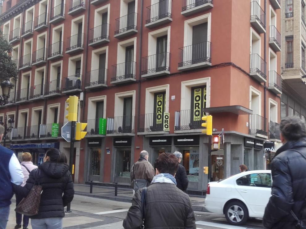 Uno de los establecimientos que compran oro en Zaragoza.