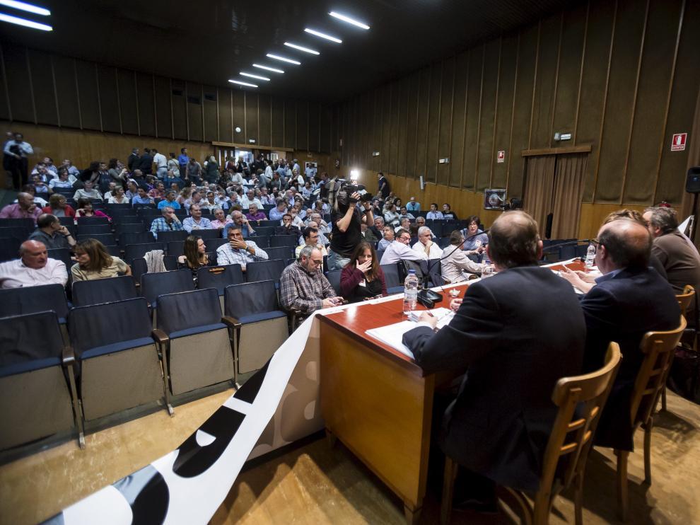 Asamblea de trabajadores de Ibercaja en el anterior expediente de 2017.