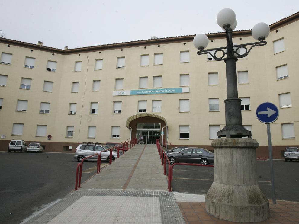 Fachada del Hospital Provincial de Huesca.