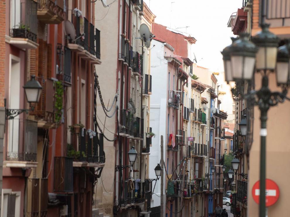 Viviendas en el centro histórico de Zaragoza.