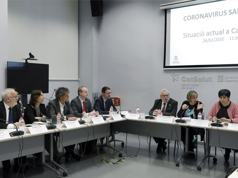Reunión de la consejería de Salud en Cataluña.
