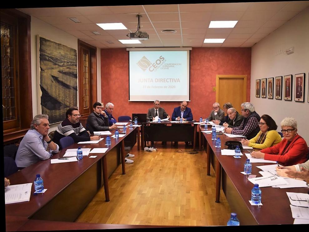 Reunión de la junta directiva de CEOS-Cepyme Huesca este jueves