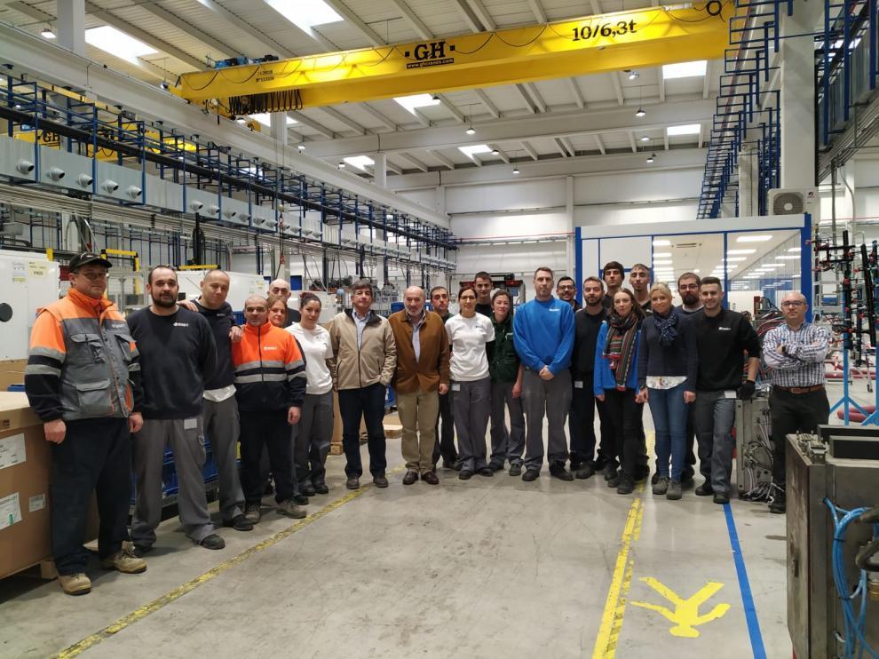 Trabajadores de la factoría de Sigit en Calatayud
