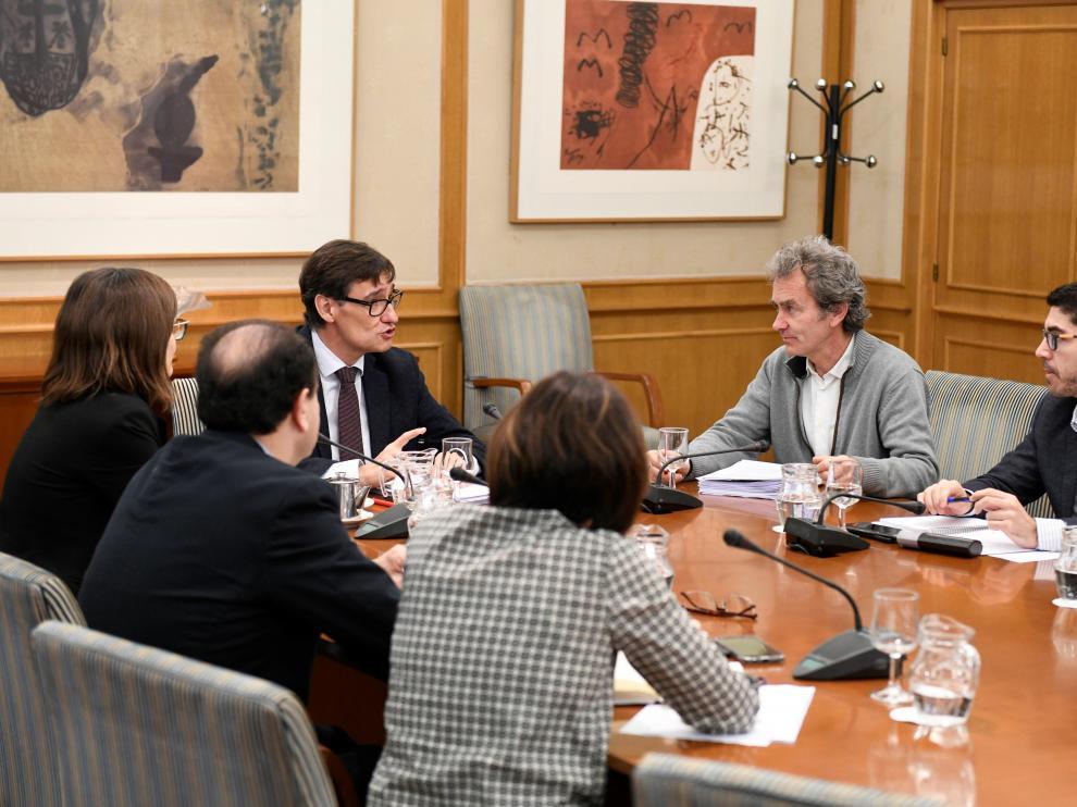 Reunión del Comité de Seguimiento del Coronavirus en Madrid.