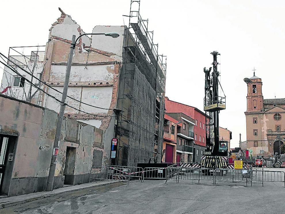ESTADO DEL EDIFICIO DESALOJADO EN LA PLAZA MAYOR DE JUSLIBOL / 28-02-2020 / FOTOS: FRANCISCO JIMENEZ [[[FOTOGRAFOS]]]